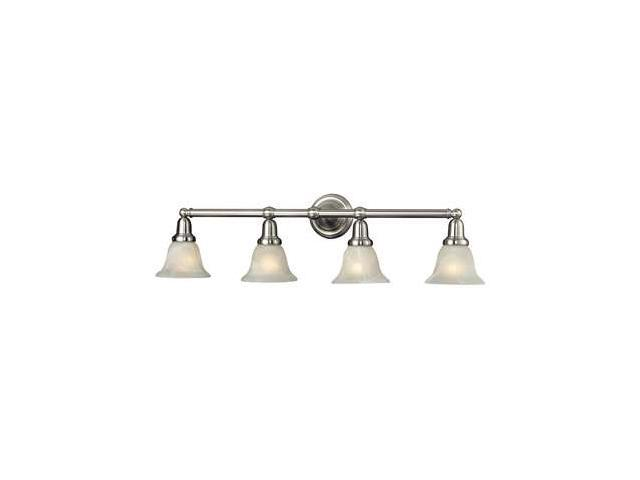 Elk Lighting Vintage Bath 4 Light Glass Bath Bar, Satin Nickel Finish - 84003-4