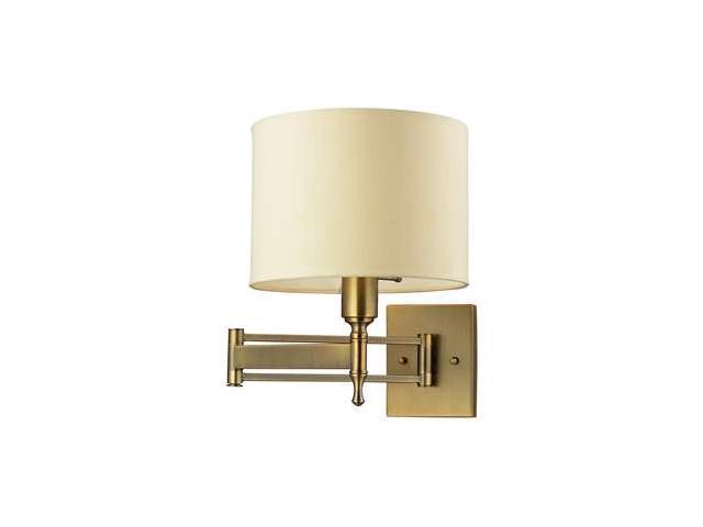 Elk Lighting Pembroke 1- Light Swing Arm in Antique Brass - 10260-1