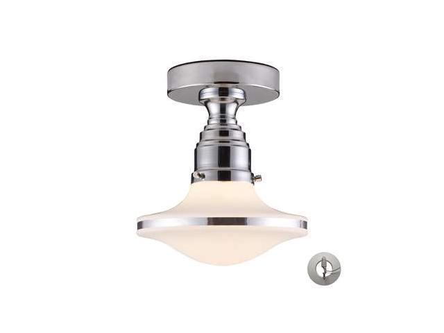 Elk Lighting Retrospective 1-Light Semi-Flush in Polished Chrome - 17053-1-LA