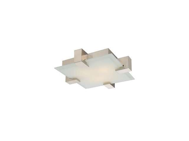 Sonneman 2-Light Dakota Surface Mount in Satin Nickel - 3680-13F