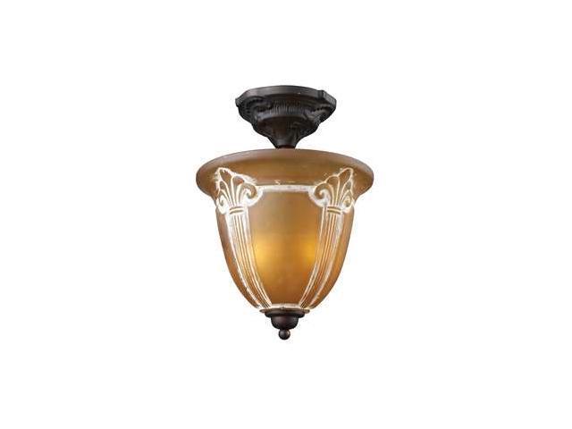 Elk Lighting Restoration 2-Light Semi-Flush in Aged Bronze - 66340-2