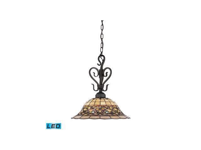 Elk Tiffany Buckingham 1-Light Pendant in Vintage Antique - 362-VA-LED