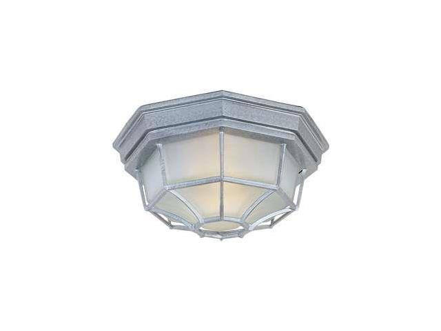 Maxim Lighting 1020PE Crown Hill 2-Light Outdoor Ceiling Mount - Pewter