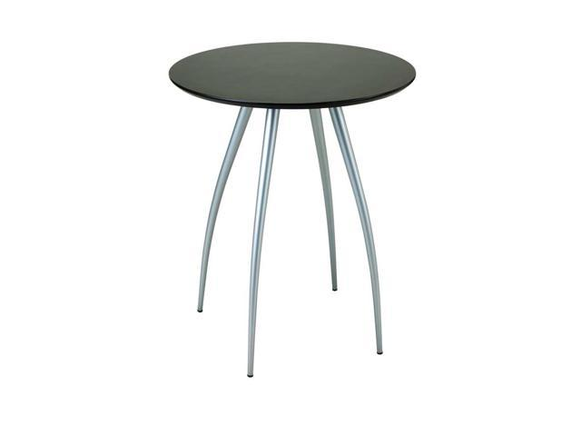 Flash Furniture 24 39 39 Round Wood Cocktail Table With 30 39 39 And 42 39 39 Columns