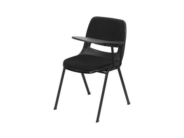 Flash Furniture Padded Black Ergonomic Shell Chair with Left Handed Tablet Arm [RUT-EO1-01-PAD-LTAB-GG]
