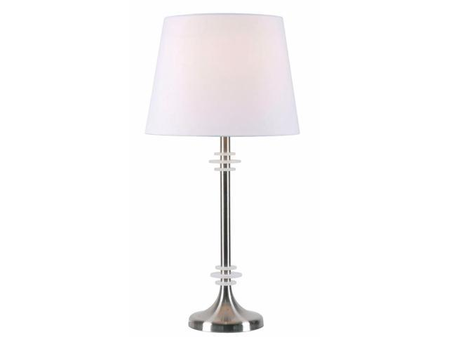 Kenroy Home Ringer Table Lamp, Brushed Steel with Acrylic Accents - 32605BS