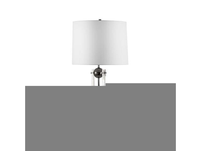 Nova Lighting Barbeto Table Lamp, Black Nickel, Clear, White - 1010816