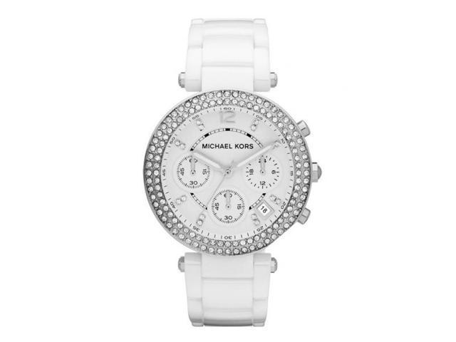 Michael Kors Parker Chronograph White Ceramic Womens Watch MK5654