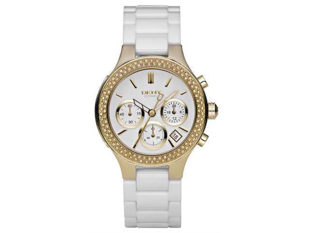 DKNY White Ceramic Ladies Watch NY4986