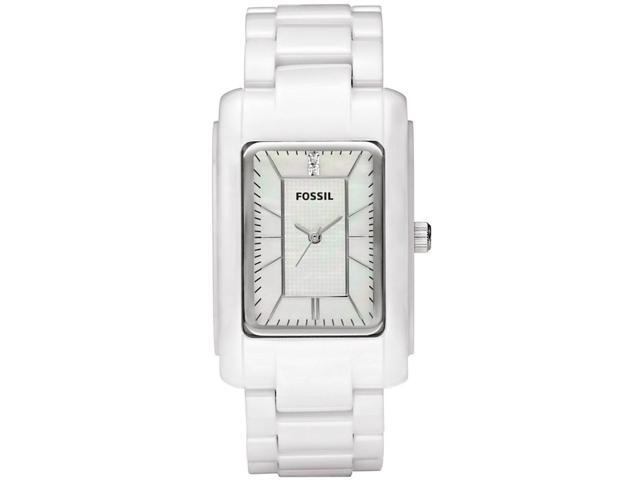 Fossil Ceramic White Mother-of-pearl Dial Women's watch #CE1031