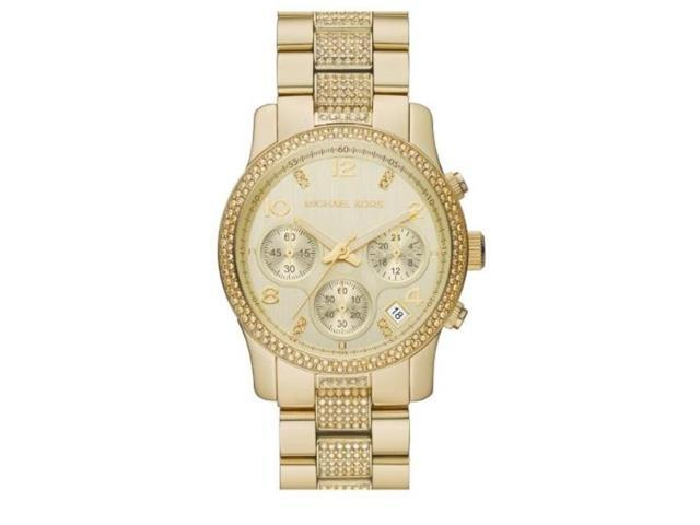 Michael Kors Runway Chronograph Gold Glitz Womens Watch MK5826