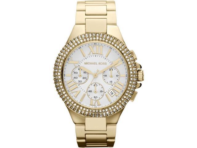 Michael Kors Camille Chronograph Cystal Gold Womens Watch MK5756