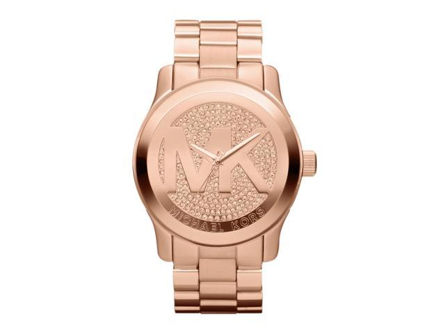 Michael Kors Runway Logo Rose Gold Tone Womens Watch MK5661