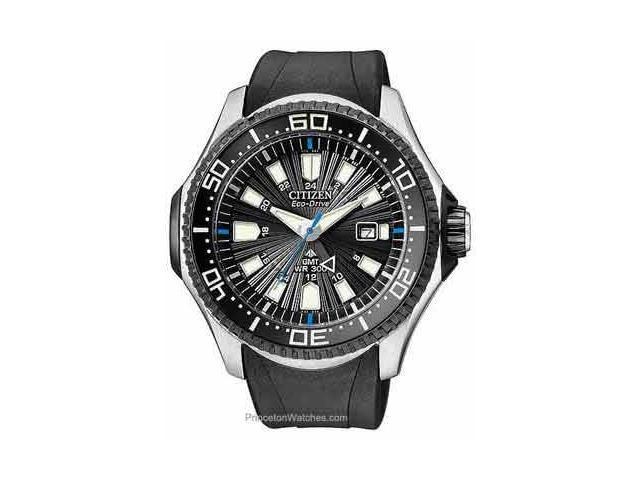 Citizen Promaster Eco-Drive Black Dial Steel Black Rubber Mens Watch BJ7065-06E