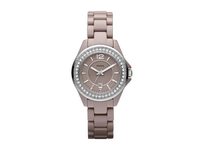 Fossil Riley Antique Pearl Ceramic Womens Watch CE1061