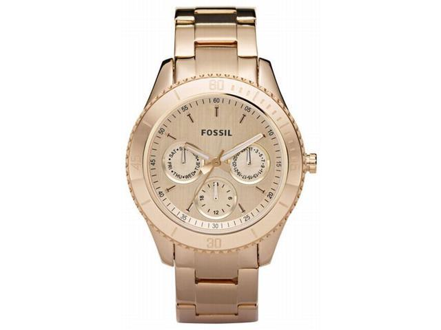 Fossil Stella Chronograph Multifunction Rose Gold-tone Ladies Watch ES2859