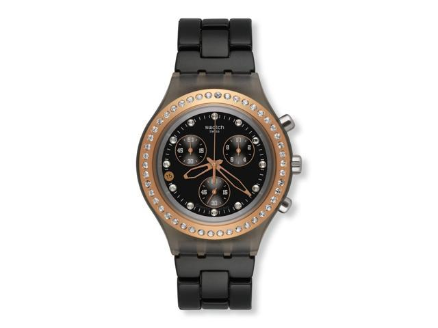 Swatch Chrono Full Blooded Stoneheart Black Aluminum Unisex Watch SVCM4008AG