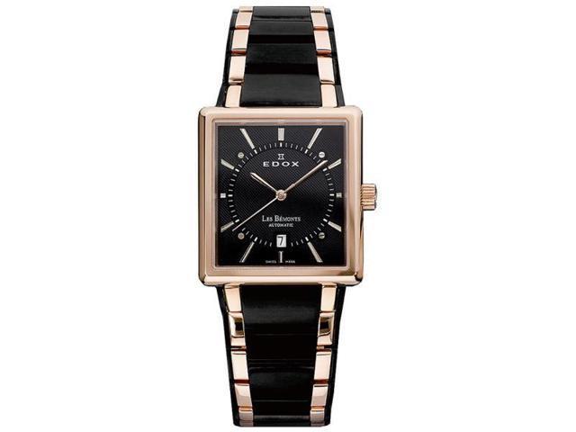 Edox Les Bemonts Gold Tone Mens Watch 82005 357RN NIR
