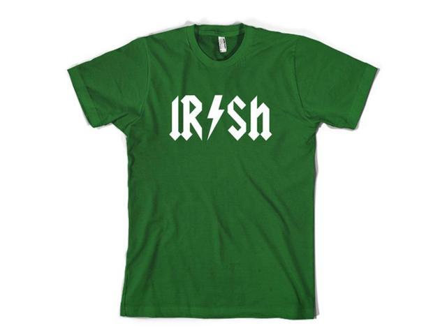 Kids Irish Rockstar Band Logo T Shirt Funny Saint Patricks Day Youth Shirt (Green) S