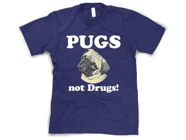 Youth Pugs not Drugs Shirt Funny Dog T-Shirt for Children L