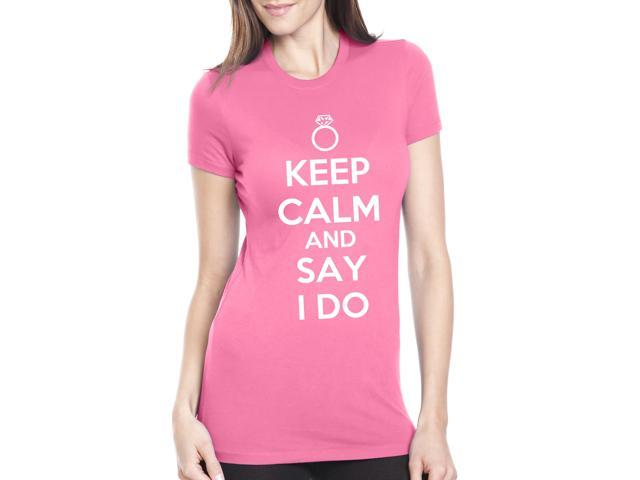 Women's Keep Calm and Say I Do T-Shirt Funny Wedding Shirt for a Fiancee L