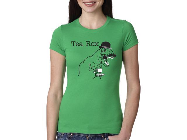 Women's Tea Rex T Shirt Funny Dinosaur Gentleman Monocle Tee XL