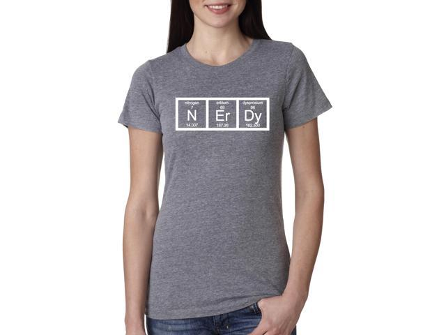 Nerdy Periodic Table T Shirt Funny Science Shirts Womens L