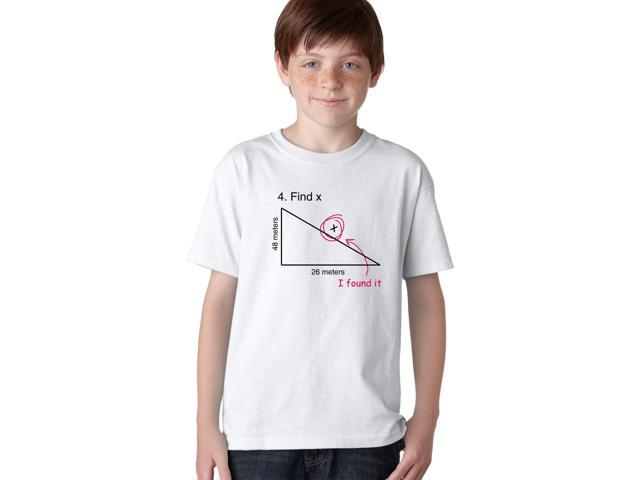 Find X Youth T Shirt Funny Variable X Math Teacher Tee For Kids M