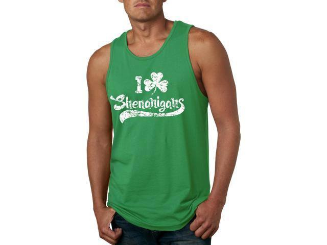 I Clover Shenanigans Tank Top Funny Sleeveless Tee for St. Patty's Day -M