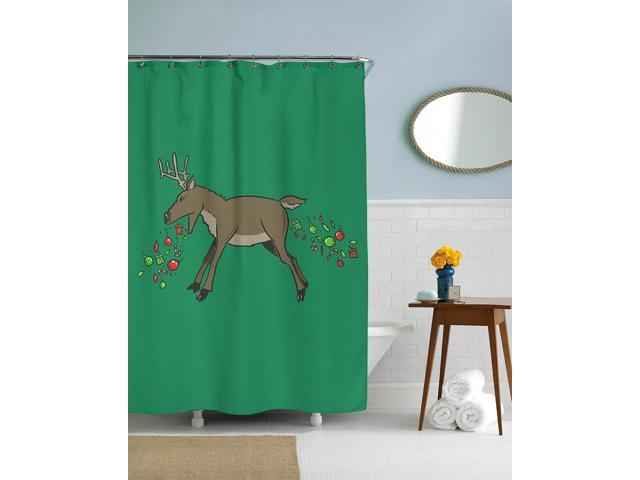 Barfing Ornament Reindeer Christmas Shower Curtain-standard - Newegg ...