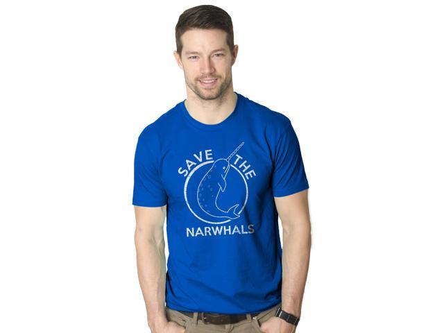 Save The Narwhals Tshirt Funny Narwhal Unicorn Shirt 2XL