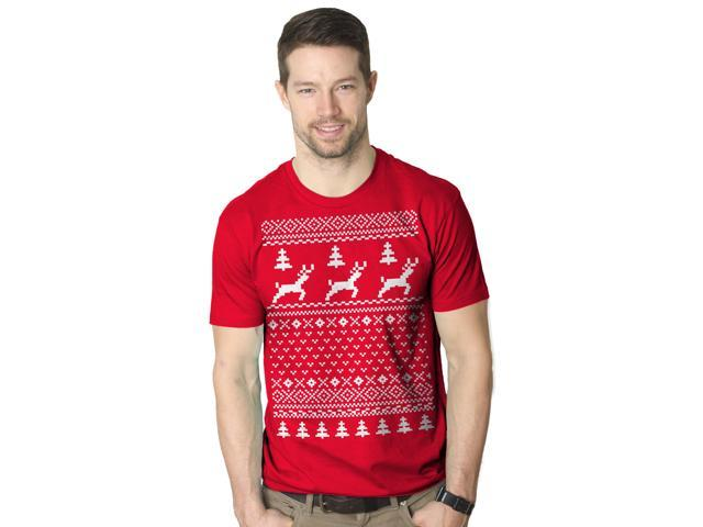 Ugly Christmas Sweater T Shirt Funny Holiday Shirts 2XL