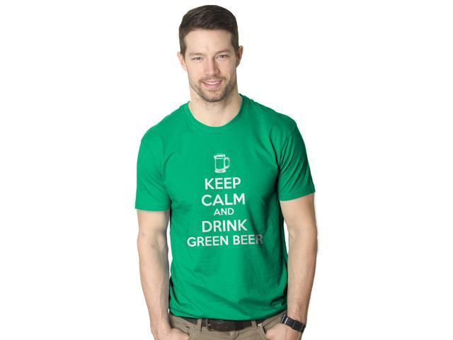 Keep Calm And Drink Green Beer T Shirt Funny Saint Patricks Day Tee XL