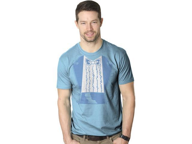 Blue Tuxedo T Shirt Funny Fake Tux Classic Movie Tee XL