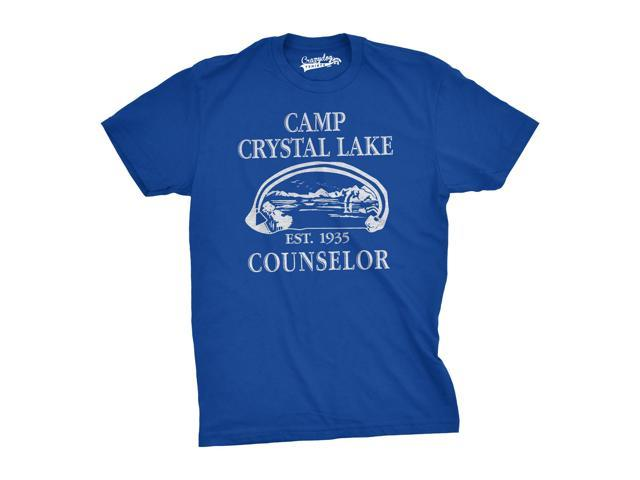 Mens Summer Lake Camp Scary Halloween Horror Movie T shirt-S