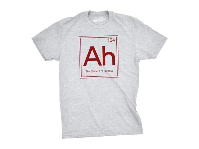 Ah! The Element Of Surprise T Shirt Funny Periodic Table Tee M