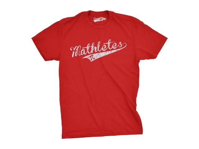 Mathletes Math Team T Shirt Funny Mathematics and Sports Inspired Tee (red) L