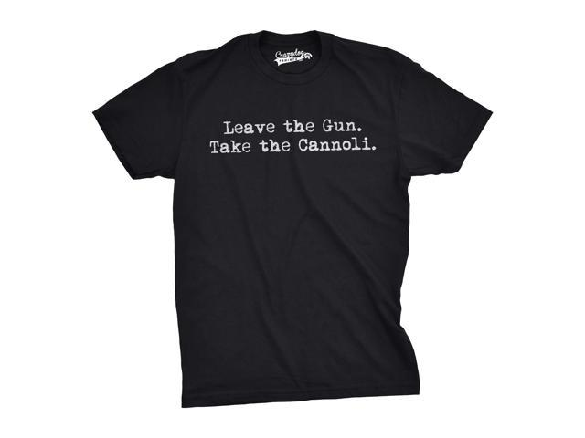 Leave The Gun Take The Cannoli T Shirt Funny Italian Shirts for GodFather (black) 3XL