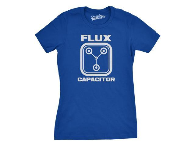 Women's Flux Capacitor T Shirt Funny Classic Movie Art Womens Tee 2XL