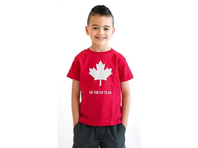 Canada The Eh Team Youth T Shirt Funny A Team Parody Tee For Kids L