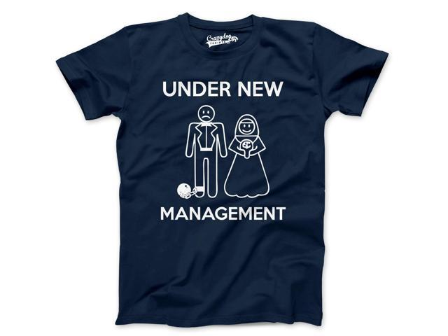 Under New Management T-Shirt Funny Married Couple Marriage Tee 4XL