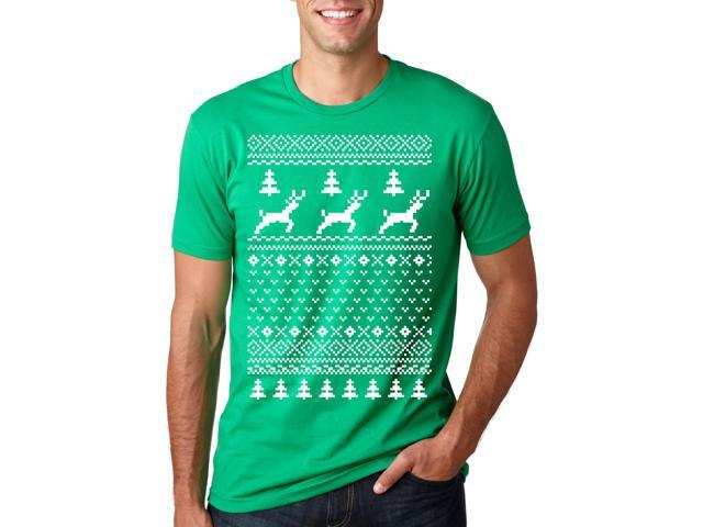 Green Ugly Sweater tshirt funny Men's Christmas Ugly Sweater shirt M