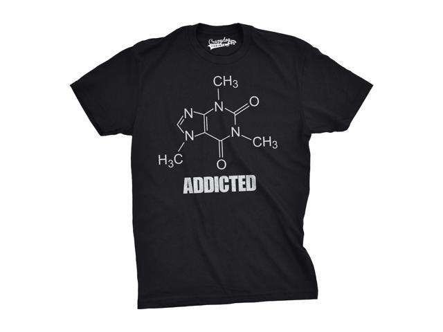 Caffeine Addicted T Shirt Funny Organic Chemistry Compound Tee (Black) 3XL