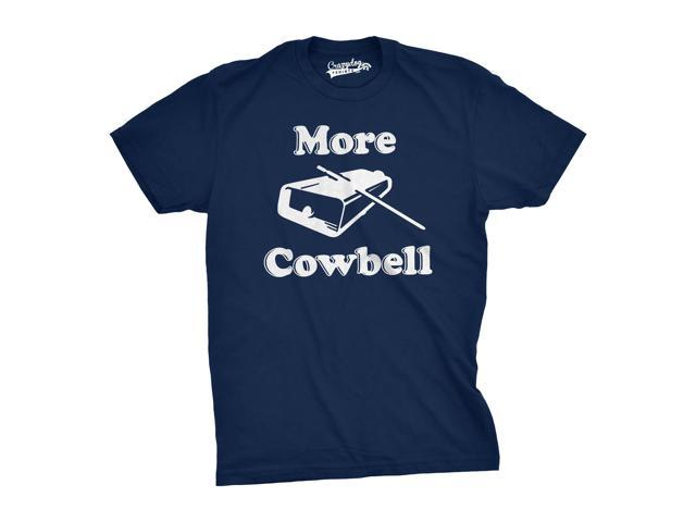 Mens More Cowbell T shirt Funny Novelty Shirts Humor Gifts for Dad Cool Graphic (blue) 3XL
