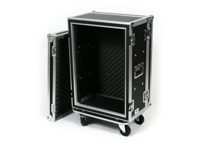 OSP SC16U-12 16 Space ATA Shock Mount Effects Rack Case w/Casters