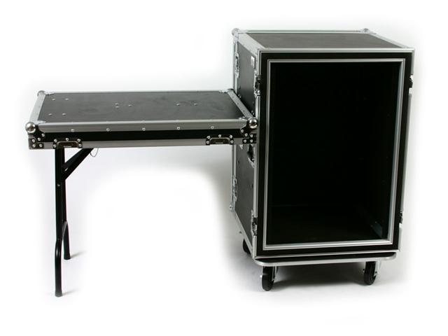 OSP SC16U-20SL 16 Space ATA Shock Mount Amp Rack Case w/Casters & Shelf