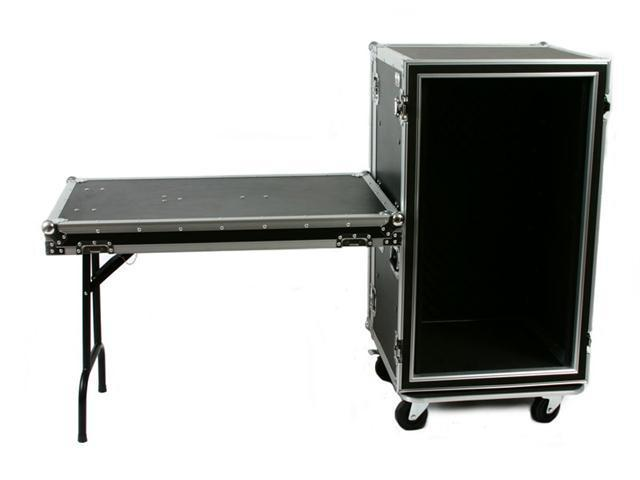 OSP SC20U-20SL 20 Space ATA Shock Mount Amp Rack Case w/Casters & Shelf