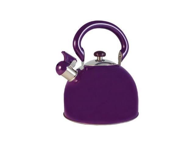 Stainless Steel Whistling Purple Tea Kettle 3-Qt.
