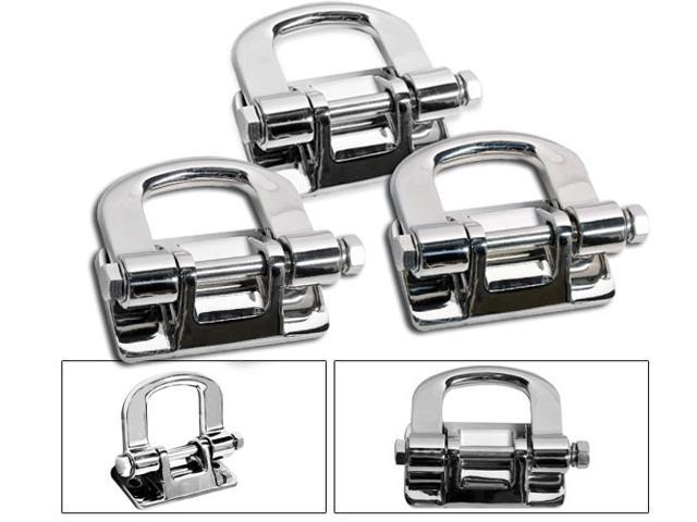 06-10 HUMMER H3 H3T STAINLESS STEEL SS CHROME TOW HOOK ...
