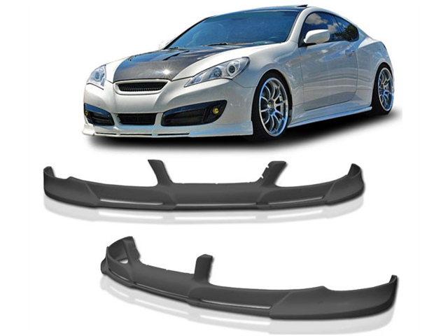 10-12 Hyundai Genesis Coupe Pd Front Bumper Lip Spoiler Poly Urethane